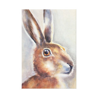 rabbit hare painting art canvas print