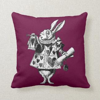 Rabbit Herald Victorian Alice in Wonderland Pillow