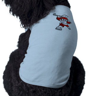 rabbit hockey cartoon doggie tshirt