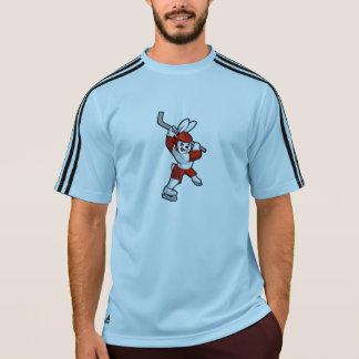 rabbit hockey cartoon T-Shirt