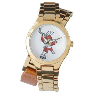 rabbit hockey cartoon watches
