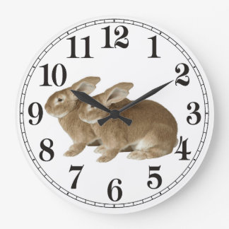 Rabbit image for Large Round Wall Clock