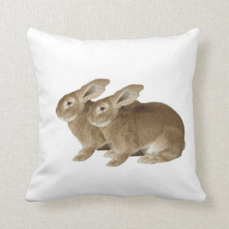 Rabbit image for Polyester Throw Pillow