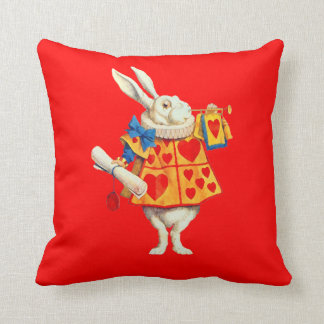 Rabbit in Alice in Wonderland ~ Throw Pillow