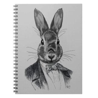 Rabbit In Suit Portrait Spiral Notebook