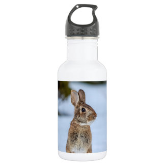 Rabbit in the snow 532 ml water bottle