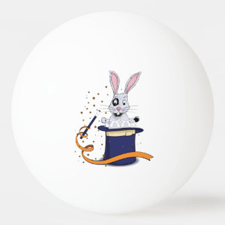 Rabbit in top hat  Ping-Pong ball