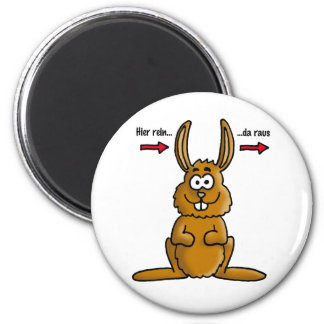 Rabbit input output 2 inch round magnet