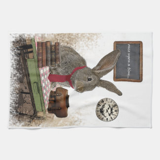 rabbit kitchen towel
