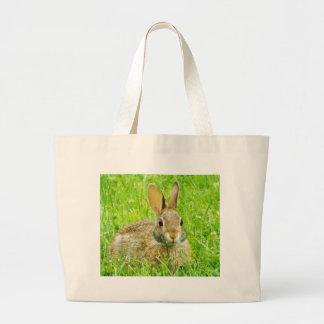 rabbit large tote bag