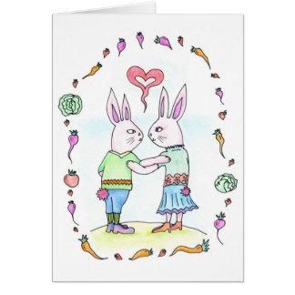 Rabbit Love - Greeting card / invitation
