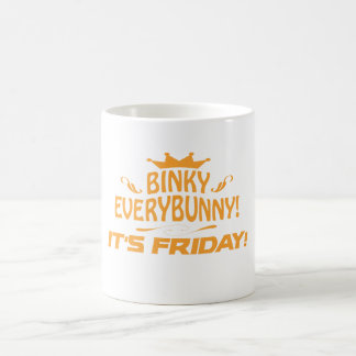 Rabbit Lovers Binky Everybunny It's Friday Coffee Mug