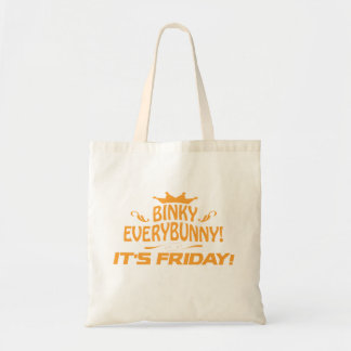 Rabbit Lovers Binky Everybunny It's Friday Tote Bag