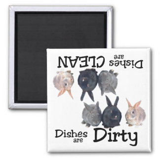Rabbit Lovers Dishwasher Magnet