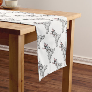 Rabbit Magician with Hat and Magic Wand Short Table Runner