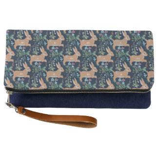Rabbit medieval tapestry Clutch