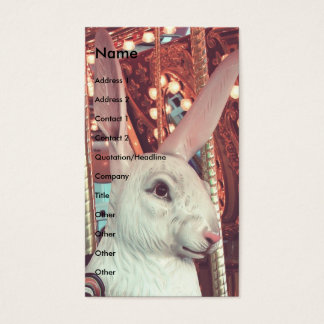 Rabbit Merry-Go-Round Business Card