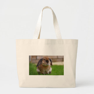 Rabbit minni lop large tote bag