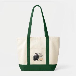 Rabbit Missing Carrot Tote Bag (Liam)