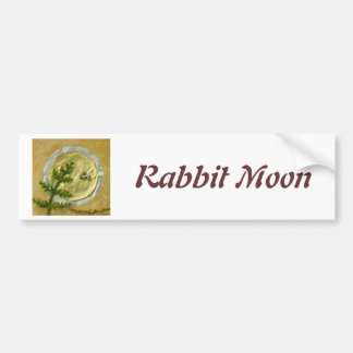 "Rabbit Moon ""O-Tsukimi"" - Collage Bumper Sticker"