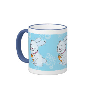 Rabbit mug blue