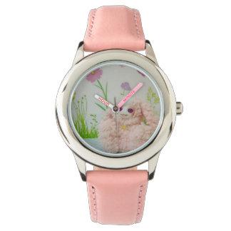Rabbit of pink watch
