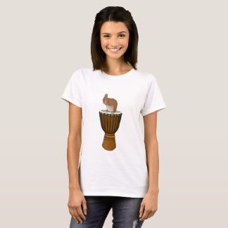 Rabbit on a Djembe T-Shirt