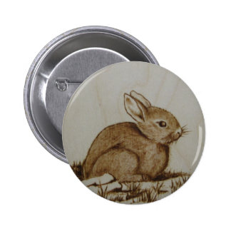 Rabbit on the rocky side... 2 inch round button
