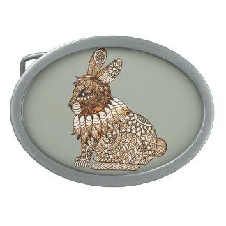 Rabbit Oval Belt Buckles