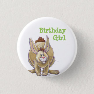 Rabbit Party Center 1 Inch Round Button