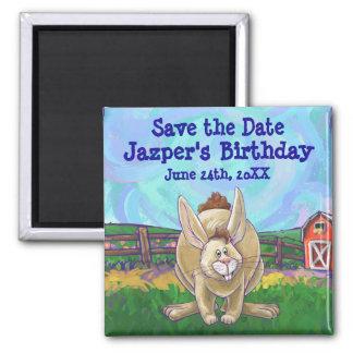 Rabbit Party Center Magnet
