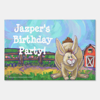 Rabbit Party Center Sign