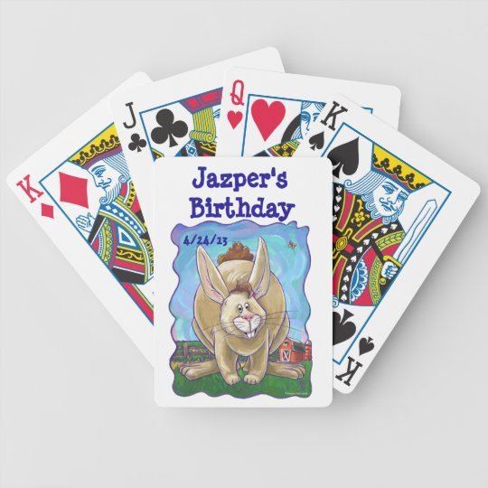 Rabbit Party Centre Bicycle Playing Cards