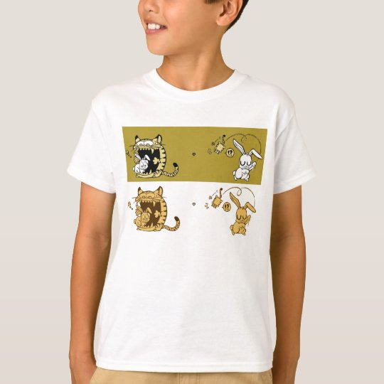 rabbit play with cat T-Shirt