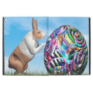 "Rabbit pushing easter egg - 3D render iPad Pro 12.9"" Case"