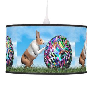 Rabbit pushing easter egg - 3D render Pendant Lamp