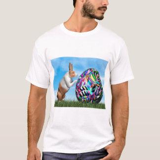 Rabbit pushing easter egg - 3D render T-Shirt