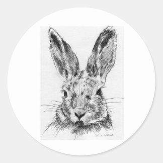 Rabbit Rabbit Round Sticker