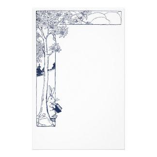 Rabbit Reading Beneath Tree Stationery