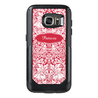 Rabbit Red Pattern Morris Personalized Monogram OtterBox Samsung Galaxy S7 Case