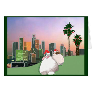 Rabbit Rescue Holiday Card - Los Angeles