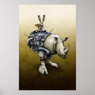 Rabbit-Rhino Poster