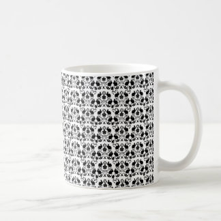 Rabbit & Rose Damask Pattern Coffee Mug