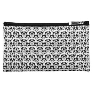 Rabbit & Rose Damask Pattern Makeup Bag