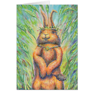 Rabbit Shaman Greeting Card