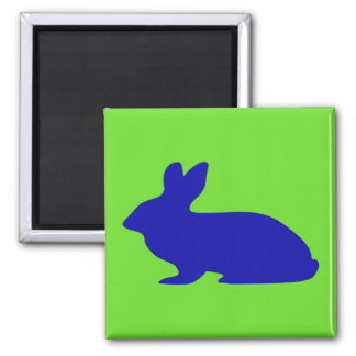 Rabbit Silhouette Square Magnet