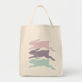 Rabbit Silhouettes Tote Bag