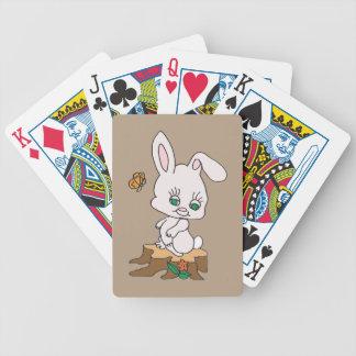 Rabbit Sitting on Stump Bicycle Playing Cards