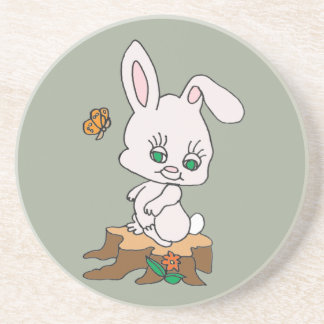 Rabbit Sitting on Stump Coaster