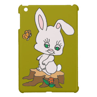 Rabbit Sitting on Stump Cover For The iPad Mini